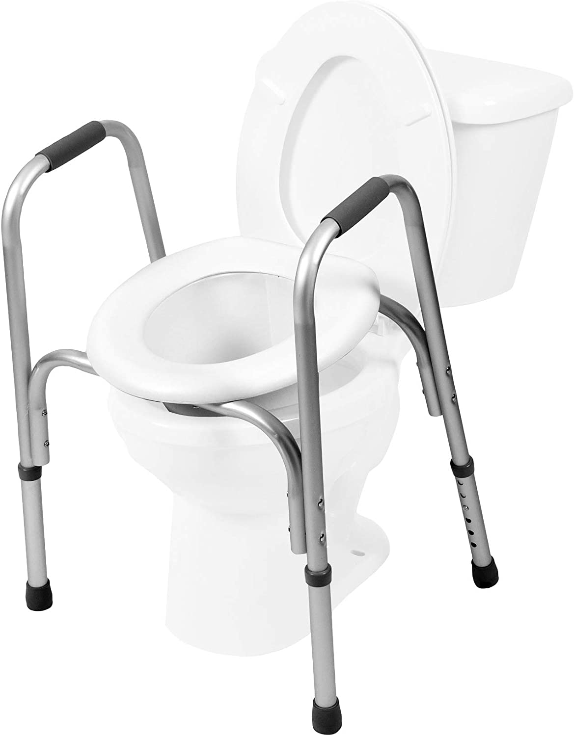 Amazon.com: PCP Raised Toilet Seat and Safety Frame (Two in One