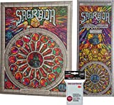 Sagrada with Sagrada 5 & 6 Player Expansion and Game Card Sleeves