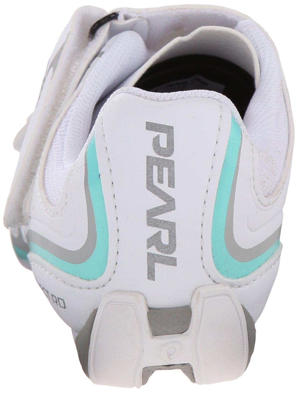 Pearl Izumi Women's W Select RD IV Cycling Shoe, White/Aqua Mint, 40 EU/8.3 B US by Pearl iZUMi (Image #2)