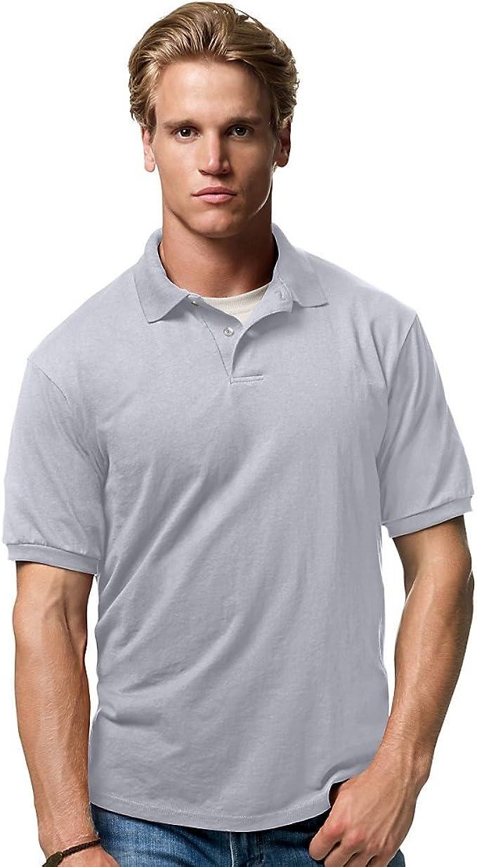 Hanes Cotton-Blend Jersey Mens Polo