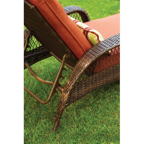 better homes and gardens azalea ridge wicker chaise lounge