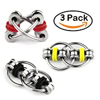 Flippy Chain Fidget Toy Relieve Stress Reducer for Autism, ADD, ADHD, and Autism Boredom Your Finger Tips Toy Stress Reducer 3 Pack