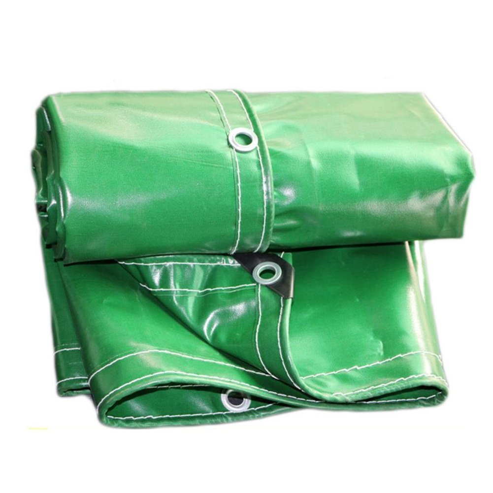 YANGJUN ターポリン 耐寒性 日焼け止め 防風 厚い 老化防止 高強度 アウトドア、 厚さ0.6mm (色 : Green, サイズ さいず : 4X4m) 4X4m Green B07NT678JW