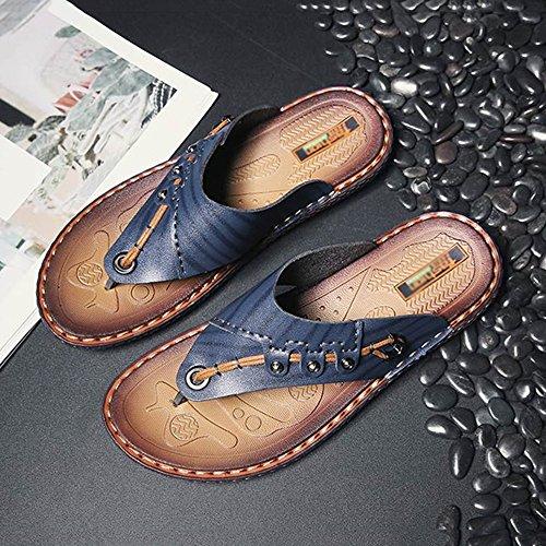 couleur Plage Personnalité Fond Huo Sandales Taille Antidérapante À Mode Homme Casual Cn40 Pantoufles 5 Respirant Imperméable Eu39 Épais De Uk6 Bleu Chaussures Air Jaune Plein T6q5q