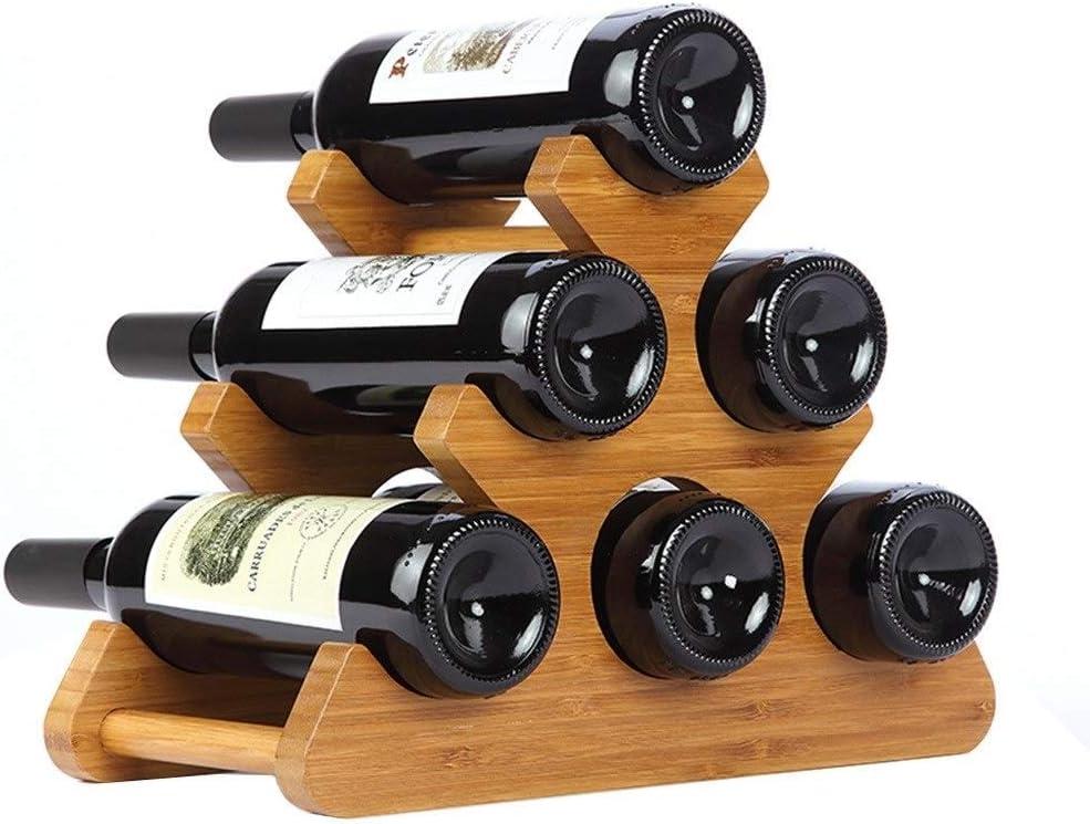 YHEGV Estantes para vinos Muebles de Madera Maciza Decoración ...