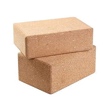 Bloque de yoga de corcho, 2 paquetes de bloques de ejercicio ...