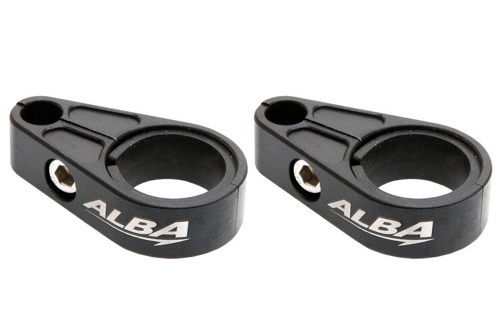 Yamaha ATV Billet Brake Line Clamps for Aftermarket Brakelines Black (Pair-Set of 2) (6 color options)