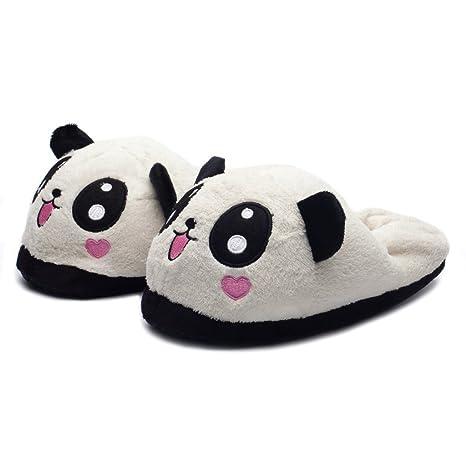 Katara 1784 Pantofole Panda Peluche Morbidissime Ciabatte da casa Animali  Antiscivolo Donna Uomo Taglia unica 36