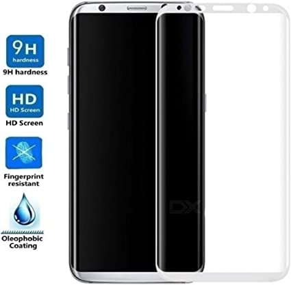 Cristal Vidrio Templado Premium Electr/ónica Rey Protector de Pantalla para Samsung Galaxy S8 Plus Curvo Negro