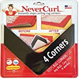 iPrimio NeverCurl's Best V Shape Design to Instantly Stops Rug Corner Curling. Safe for Wood Floors. for Indoor & Outdoor Rugs. Not an Anti-Slip pad. Made USA. Patent Pending