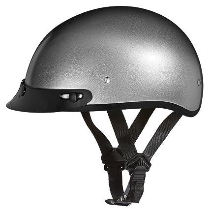 Amazon.com  D.O.T. DAYTONA SKULL CAP- SILVER METALLIC  Automotive 0ab0bc15f81