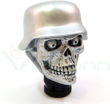 Pomo palanca cambio manual Calavera Soldado Dial coche Tuning Skull plata: Amazon.es: Electrónica