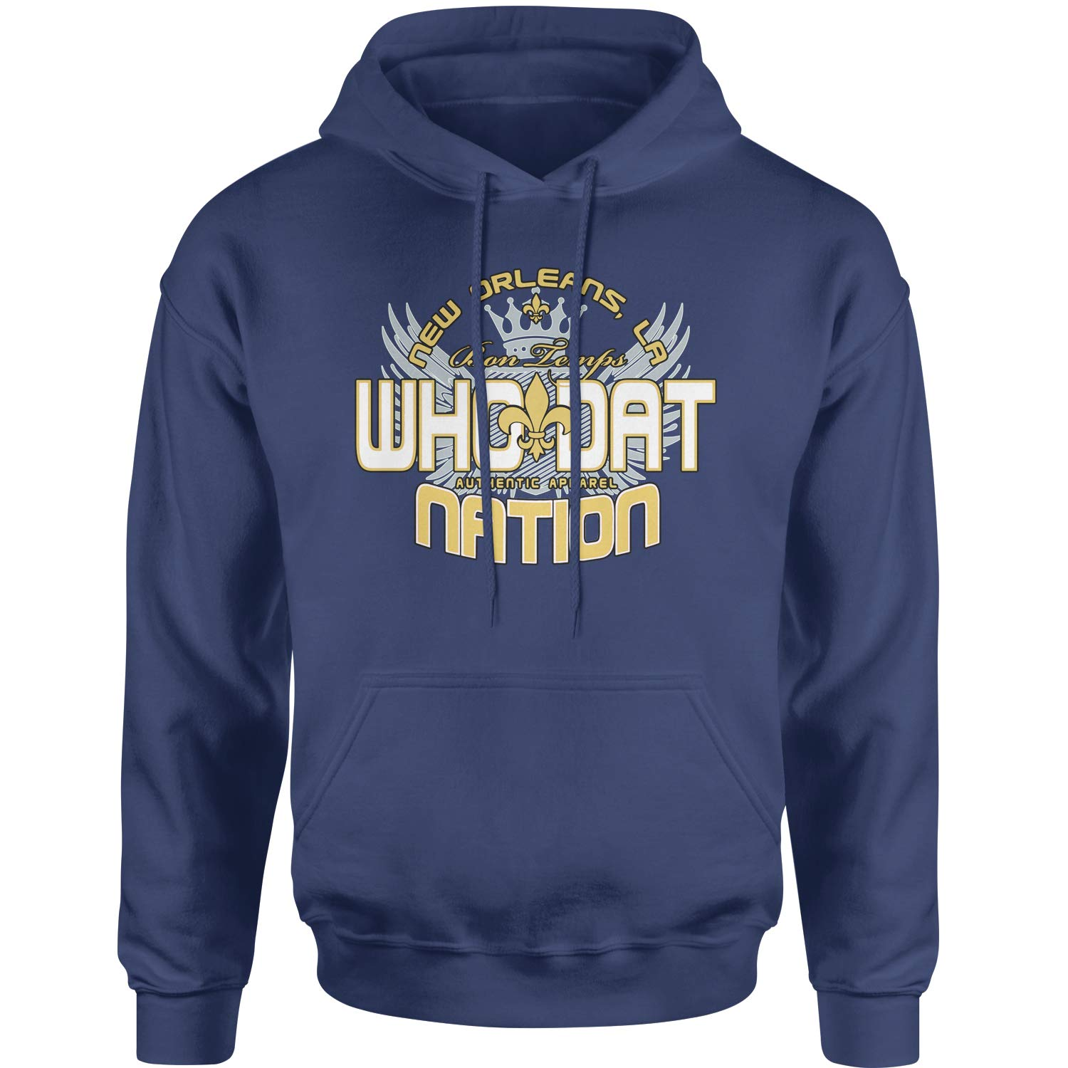 Unisex Adult Hoodie Color Expression Tees Who Dat Nation New Orleans