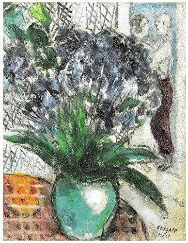Marc Chagall Bouquet sur la Tabla Print in Canvas 12X16 inch