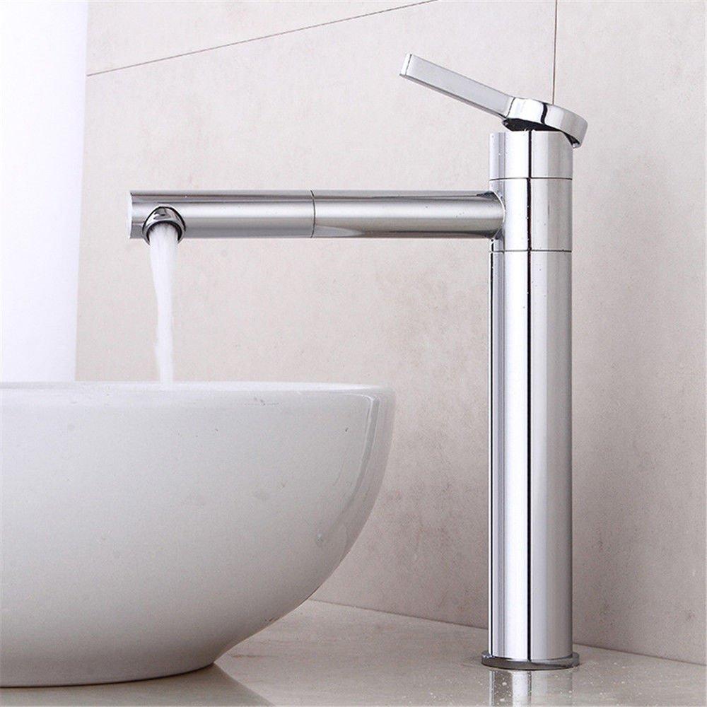 ANNTYE Waschtischarmatur Bad Mischbatterie Badarmatur Waschbecken Kupfer warmes und kaltes Wasser warmes und kaltes Wasser 1 Bohrung Badezimmer Waschtischmischer