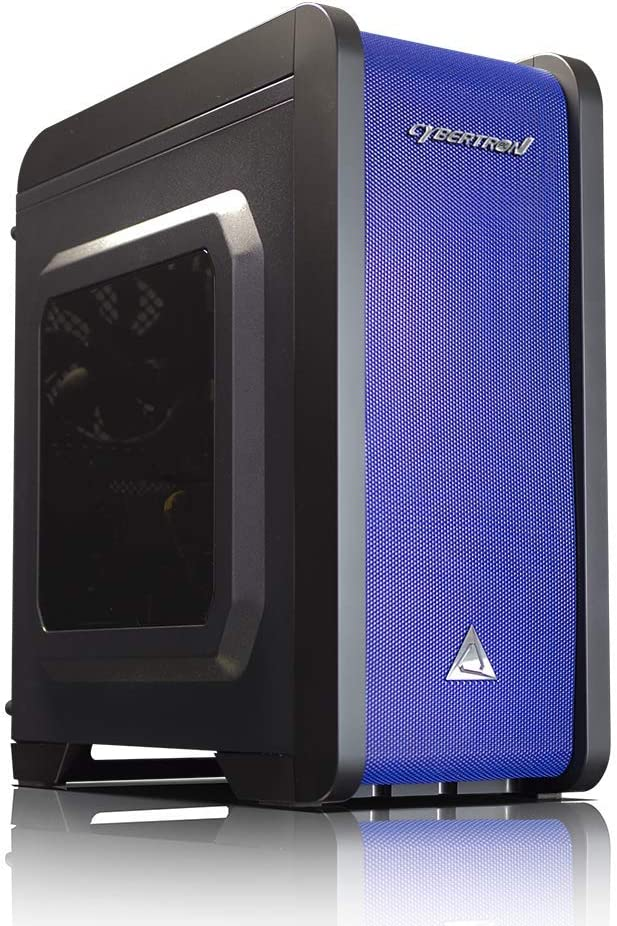 No Power Supply Blue Color Aerocool QS-240 Micro ATX Chassis