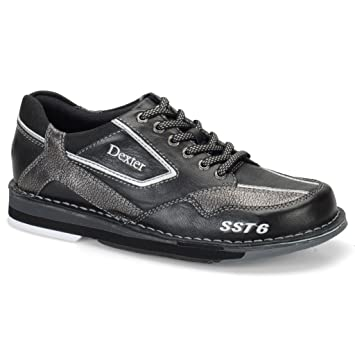 Dexter Mens SST 6 LZ Bowling Shoes- Right Hand (10 E US Black/Alloy)
