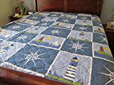 Ashley Cooper Lighthouse Print Quilt in Queen Size