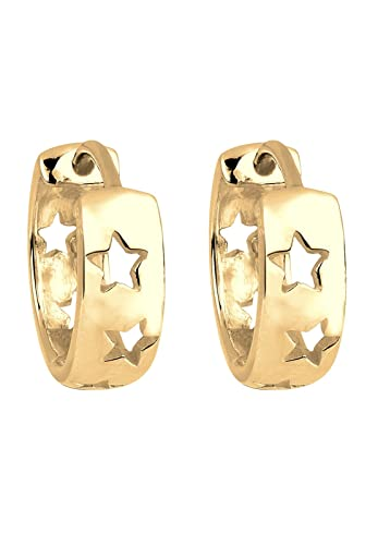 Elli Women Earrings Stars Gold Plated 925 Silber 0307150816 5ce27igqVn