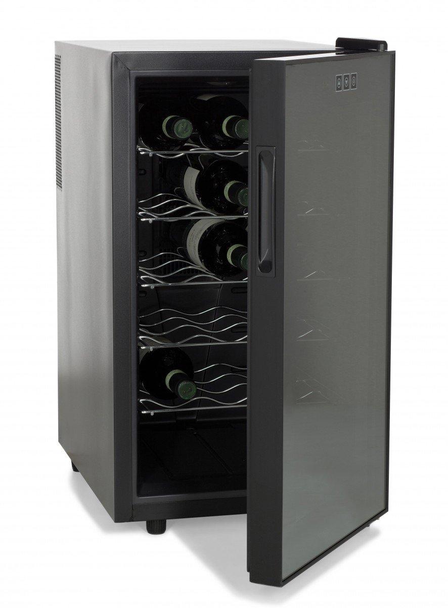 AMSTYLE Design Weinkühlschrank 48 Liter 12°C-18°C - 18 Flaschen Weinkühler