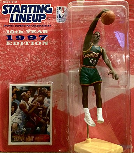 Shawn Kemp / Seattle Supersonics NBA Kenner Starting Lineup and Exclusive NBA Collector Trading Card