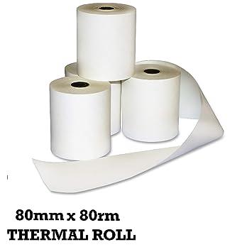 THERMAL TILL ROLL 80MMX 80MM UK STOCK TILL ROLL HIGH QUALITY