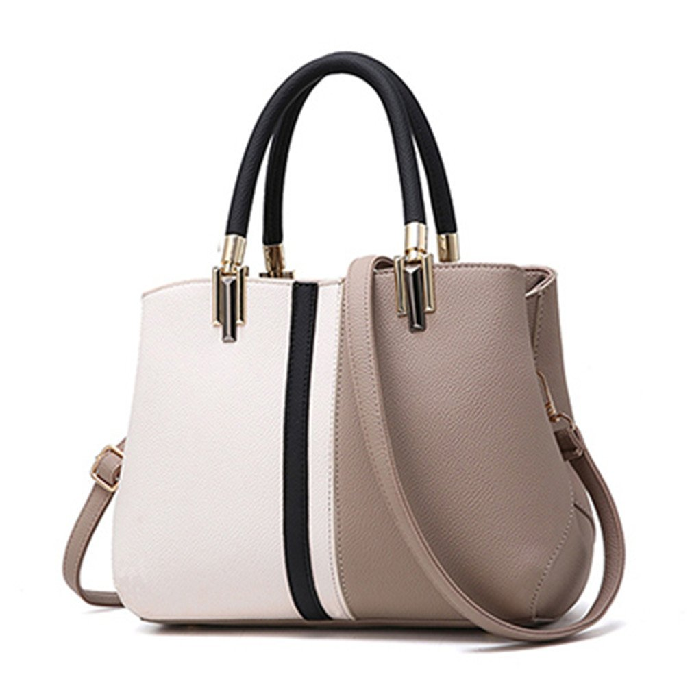 4f328ebe1ccb Amazon.com: UOXMDNJC Women Handbag Female Patchwork Zipper Casual ...