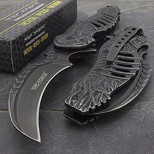 Tac-force Spring Assisted Open Skull Skeleton Claw Folding Blade Pocket Knife