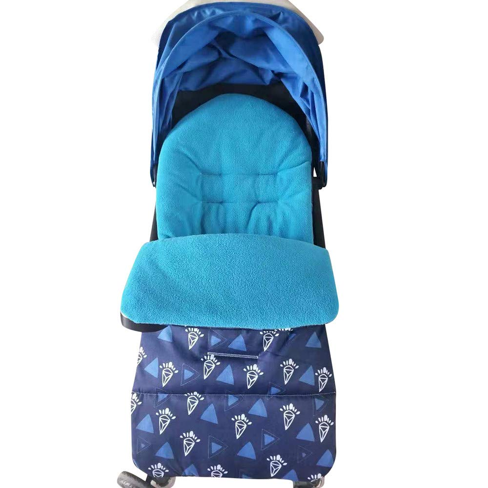 WOCACHI Baby Toddler Sleeping Bag Universal 2-in-1 Stroller Fleece Lined Padded Annex Mat Footmuff Cover Stroller Bunting Bag Waterproof Windproof Cold-Proof Detachable Pram Mat