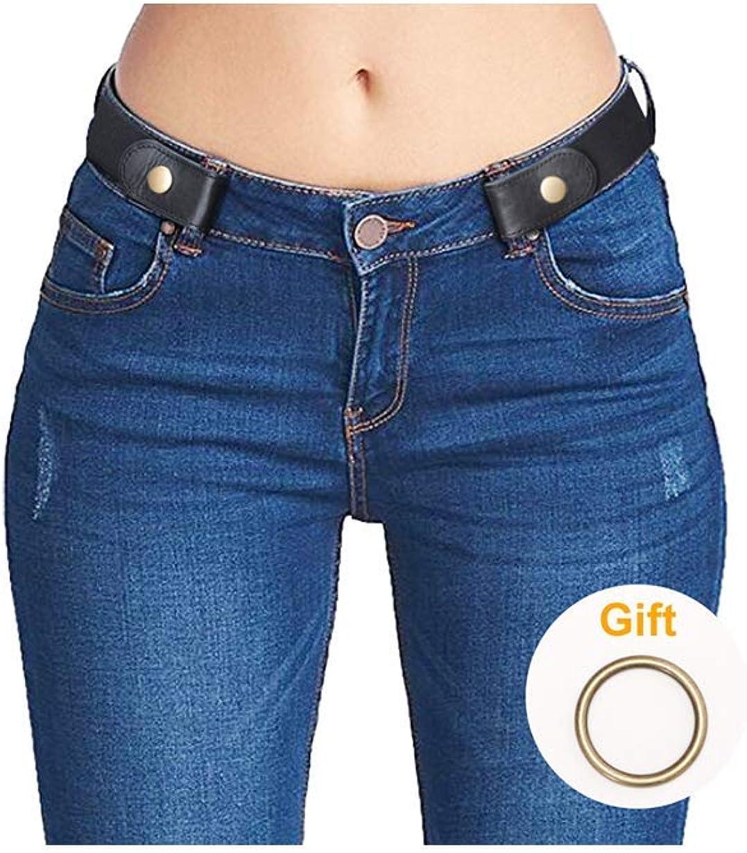 No Buckle Stretch Belt For Women Elastic Waist Belt for Jeans Pants Dresses S...