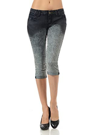 VIRGIN ONLY Women's Slim Fit Skinny Denim Capri Jeans at Amazon ...