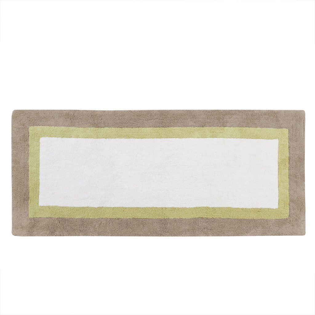 Madison Park Palm Cotton Tufted Rug Taupe 24x60