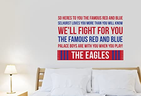 Crystal palace famous blue song wall sticker design medium