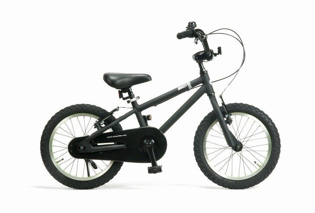 Wynn 16インチ BMXスタイル@28080 16inch 子供用自転車 STRIDER が乗れるようになったら次は (キックスタンドは付属しません) B07C1NW1C2 BLACK BLACK