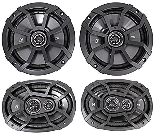 "2) KICKER 43CSC674 6.75"" 600w Car Audio Speakers+2) 43CSC6934 6x9"" 900w Speakers"