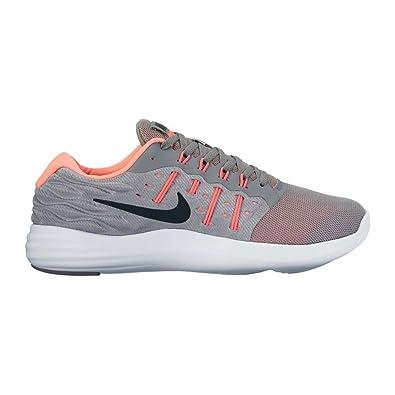 720cf7e367da Nike Lunarstelos Stealth Black Hot Punch Lava Glow Womens Running Shoes   Amazon.in  Shoes   Handbags