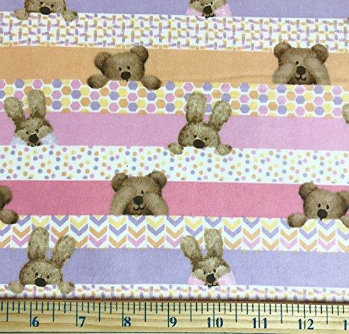 - 1/2 Yard - Teddy Bear & Bunny
