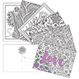 60 Postcards - Dream, Love, Smile Color-In Postcards - 6 Different Images