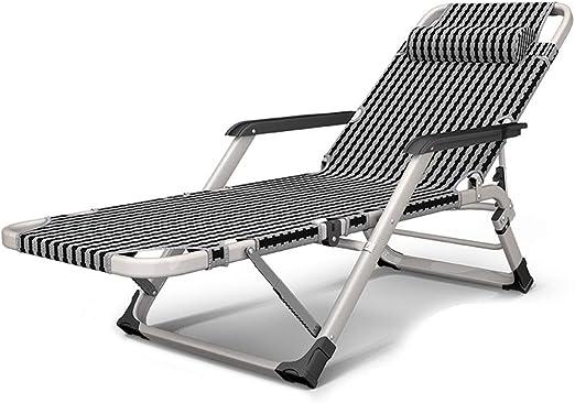 HH- Tumbonas/Lounge Chair Tumbona Plegable Tumbona Tumbona Silla Reclinable con Reposabrazos, Ideal For Patio Jardín Camping Playa Relajante Asiento Cómodo Al Aire Libre: Amazon.es: Hogar