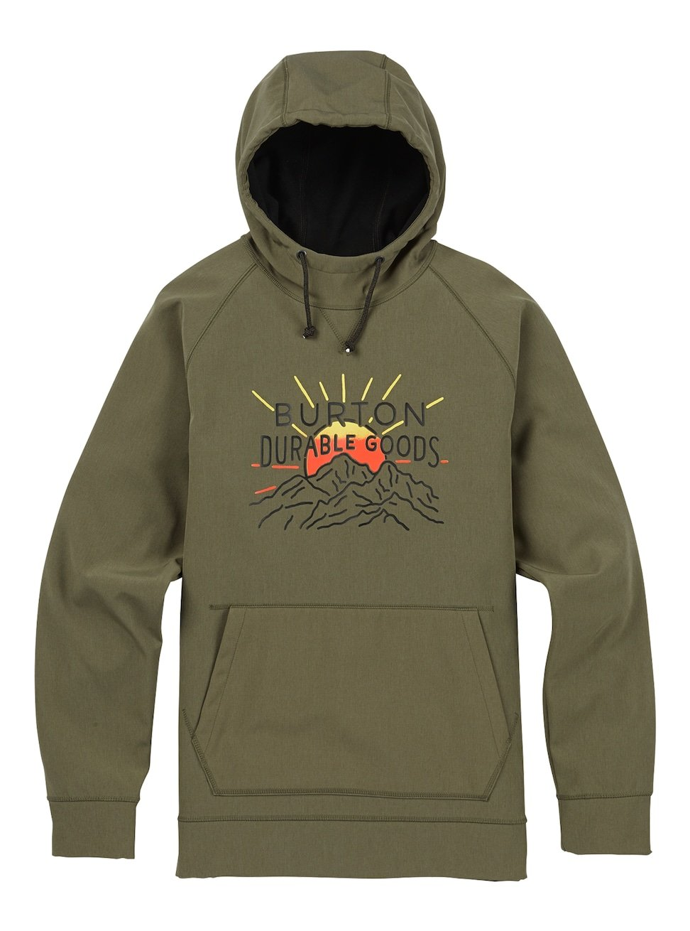 Burton Men's Crown Bonded Pullover, Dusty Olive Heather, X-Large