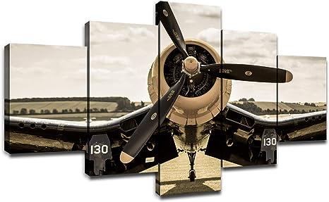 Aircraft Propeller Plane Jet Art Canvas Poster Print Home Decor