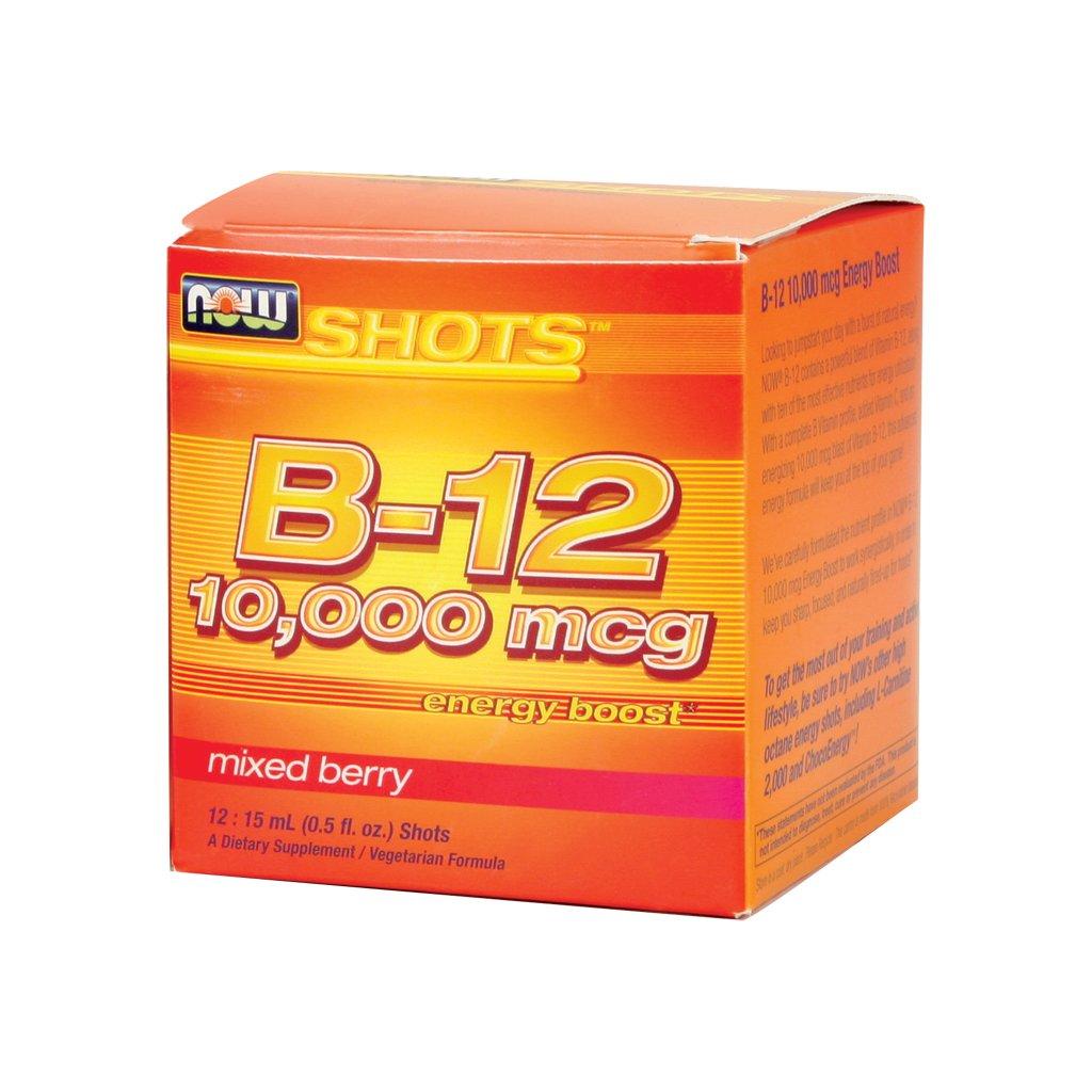 Now Foods B-12 10000 mcg - 12: 15 mL (0.5 fl. oz.) Shots 3 Pack