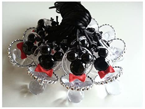 Amazon.com: 12 De Mickey Mouse Chupete collares Baby Shower ...