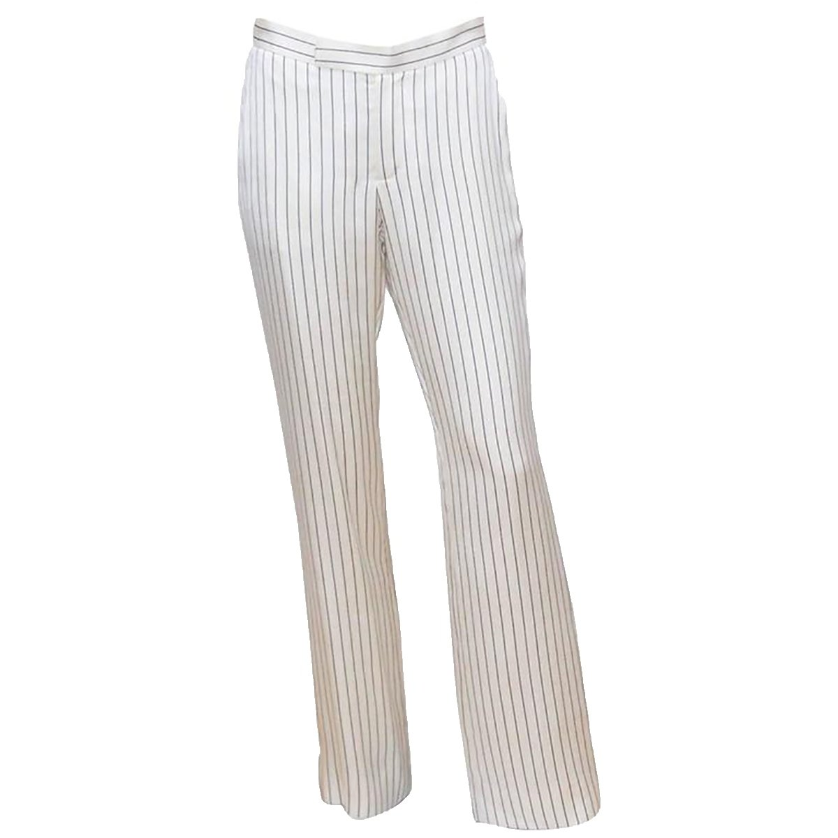 Lauren by Ralph Lauren Women's Pinstriped Twill Skinny Pants (10, White/Black)