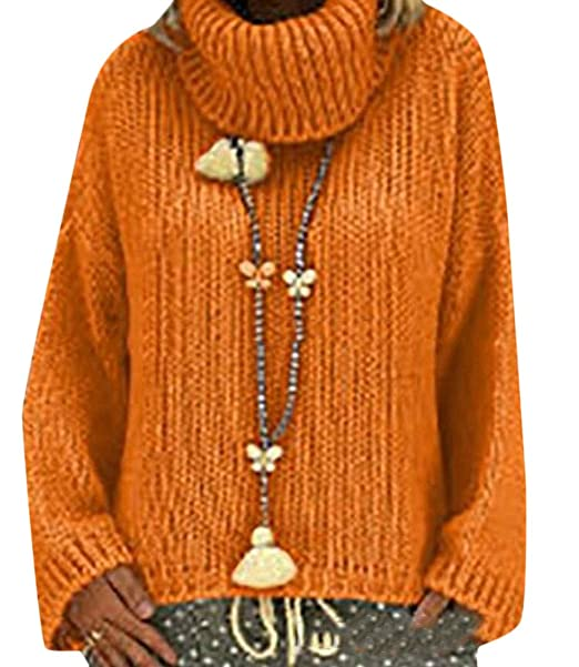 d44dc95854b6 GenericWomen Turtleneck Long Sleeve Cable Knit Tunic Sweater ...