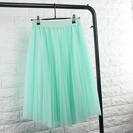 KLGDF Falda Faldas de Tul para Mujer Negro Gris Blanco Falda de ...
