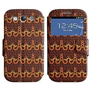 LEOCASE patrón increíble Funda Carcasa Cuero Tapa Case Para Samsung Galaxy S3 I9300 No.1005793