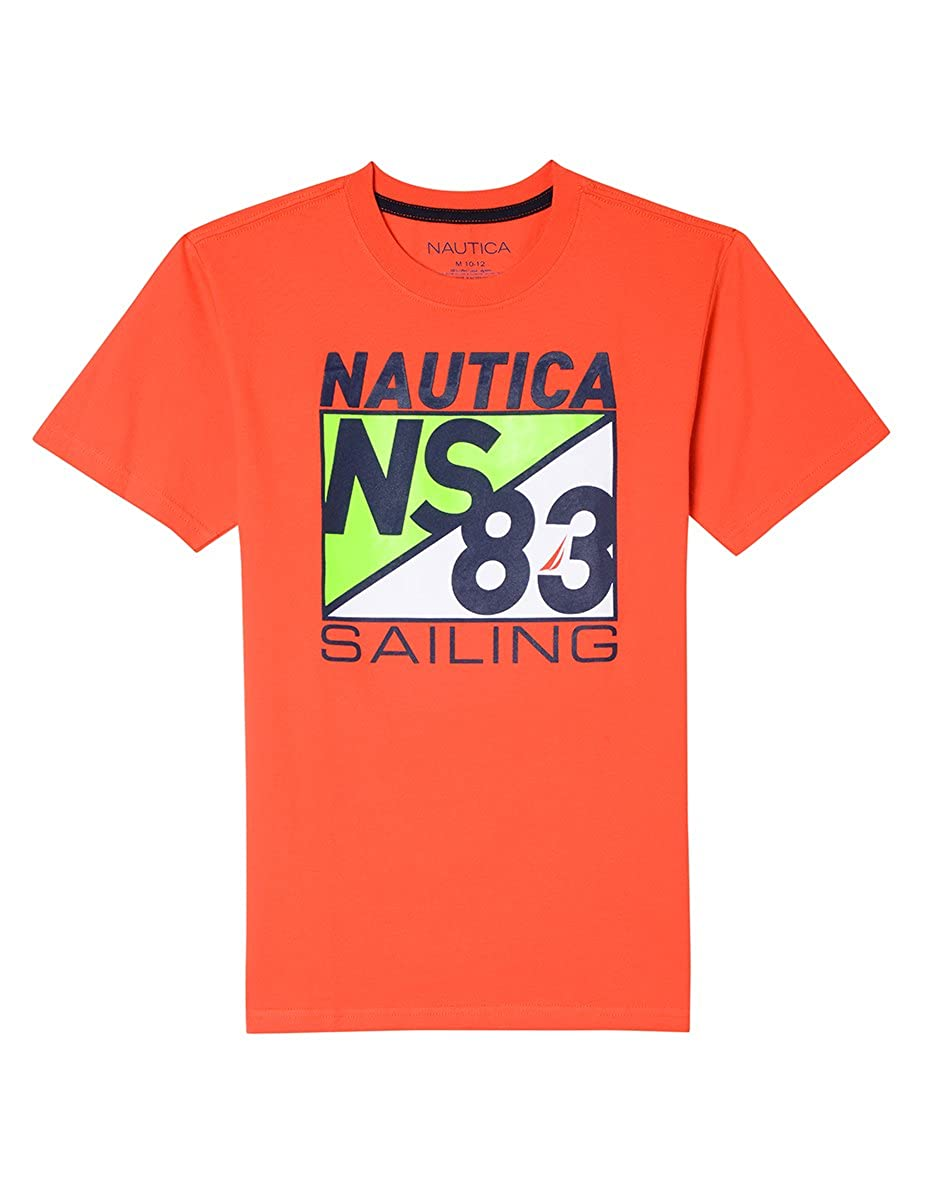Nautica Boys' Big Short Sleeve Sailing Graphic T-Shirt