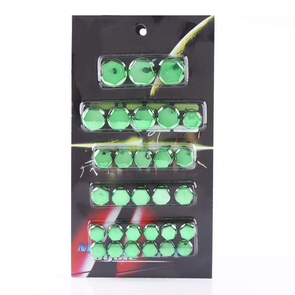 30PCS moto bouchon /à vis Green moto vis /écrou cache-bouchon moto vis /écrou boulon bouchon couvercle d/écoration