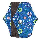 #3: Menstrual Pads Reusable Sanitary Pads Covermason Reusable Bamboo Cloth Washable Menstrual Pad Mama Sanitary Towel Pad (M, Light Blue)